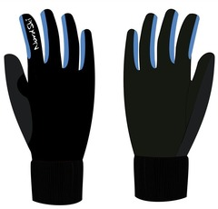 Перчатки Nordski Warm Black-Blue WS 18