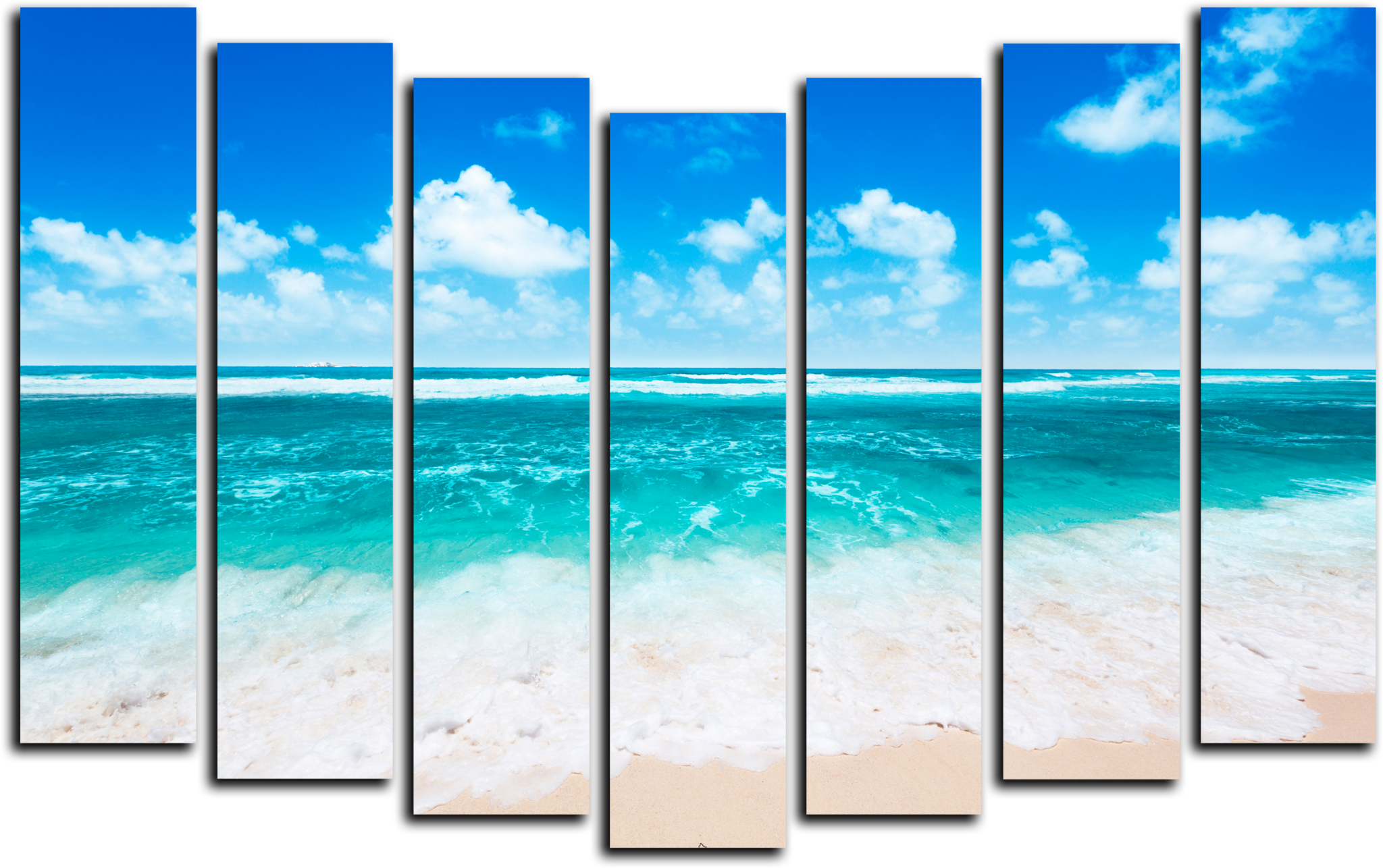 """Природа Модульная картина """"Морской рай"""" М270.png"""