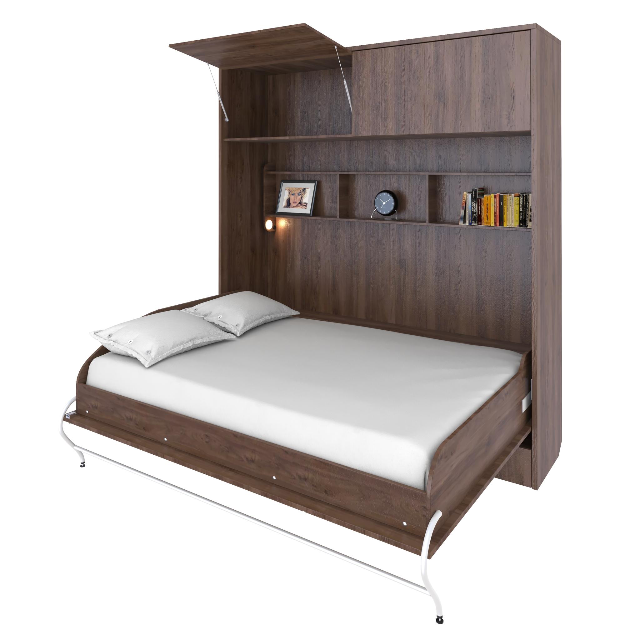 Шкаф-кровать горизонтальная двуспальная 140 см