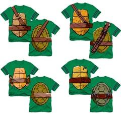 Черепашки Ниндзя футболка детская Панцирь с оружием