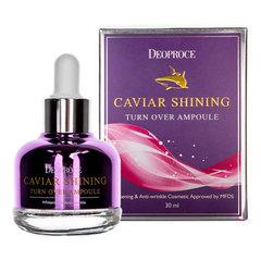 Deoproce Caviar Shining Turn Over Ampoule - Ампульная сыворотка для лица с экстрактом икры