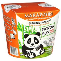 Макароны б/п PANDABOX с курицей и овощами в кисло-сладком соусе [картон 60г*12]