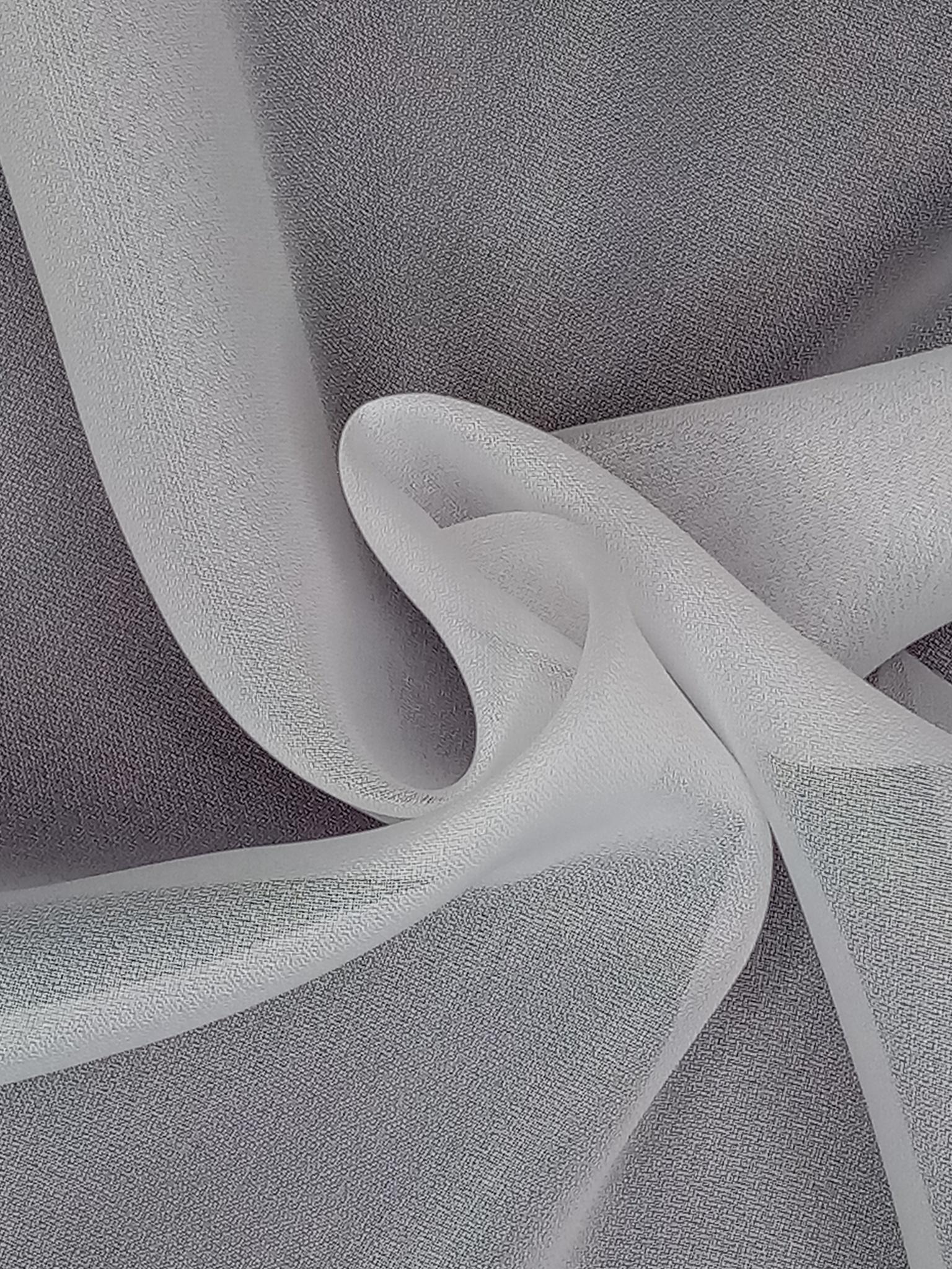 Тюль креп премиум белый с утяжелителем 3 м
