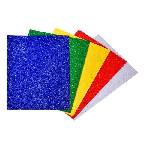 Фетр цветной Каляка-Маляка с голографическими блестками (А4, 5 л, 5 цв.), в пакете с европодвесом, ФГКМ05