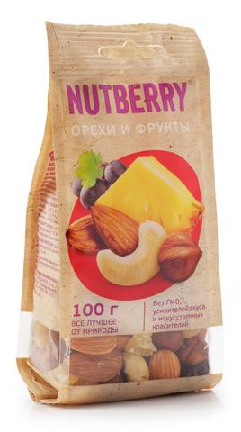 NUTBERRY Смесь Орехи и фрукты 100 г