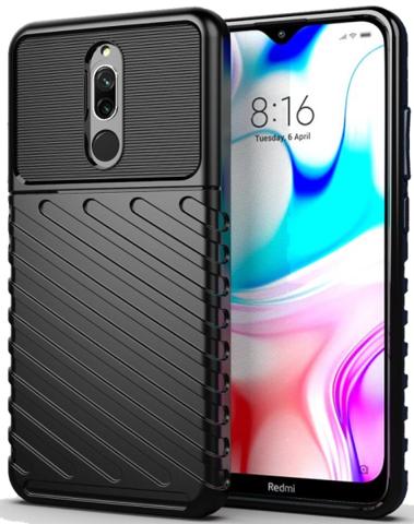 Чехол Xiaomi Redmi 8 цвет Black (черный), серия Onyx, Caseport