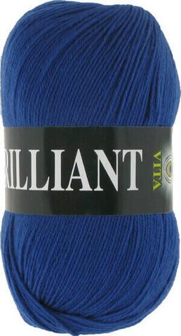Пряжа Brilliant Vita 4989 синий сапфир фото