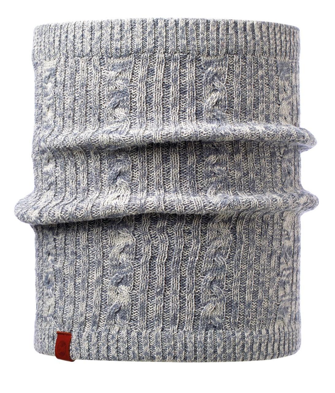 Вязаные шарфы Вязаный шарф-труба с флисовой подкладкой Buff Comfort Braidy Grey 116035.937.10.00.jpg