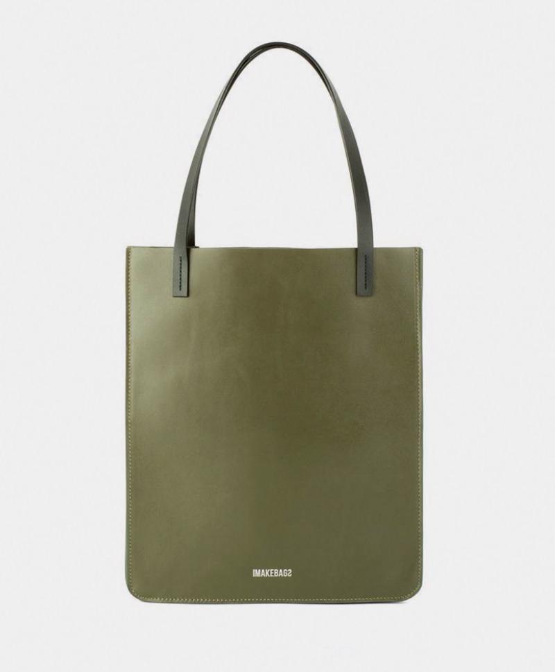 Сумка-шоппер цвета хаки