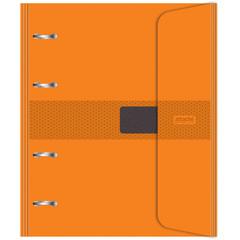 Бизнес-тетрадь со смен.блоком 120л,кл,А5, Оранжевый,пропилен.обл.налипучке