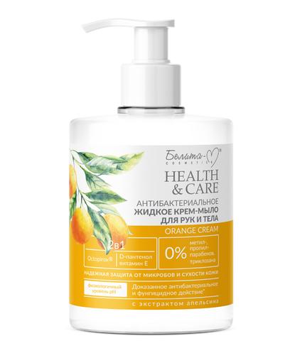 Белита-М Health & Care Антибактериальное жидкое крем-мыло для рук Orange Cream 500г