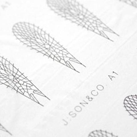 Материал для крыльев J:son&Co Realistic Wing Material AdultStone(30 пар)
