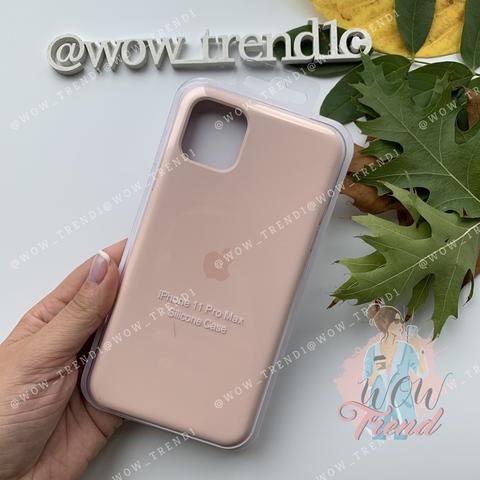 Чехол iPhone 11 Pro Max Silicone Case /pink sand/ розовый песок original quality