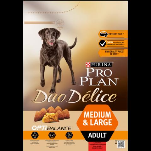 Pro Plan DUO DELICE сухой корм для взрослых собак (говядина,рис) 2,5 кг