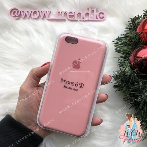 Чехол iPhone 6/6s Silicone Case /pink/ пудра 1:1