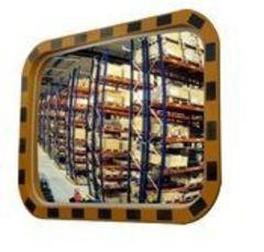 Индустриальное зеркало обзорное прямоугольное