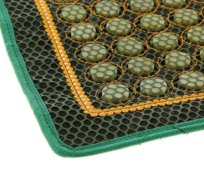 Коврик массажный с нефритовыми камнями прямоугольный с сеткой