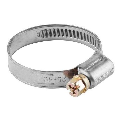 Хомуты, нерж. сталь, накатная лента 9 мм, 8-14 мм, 200 шт, ЗУБР Профессионал