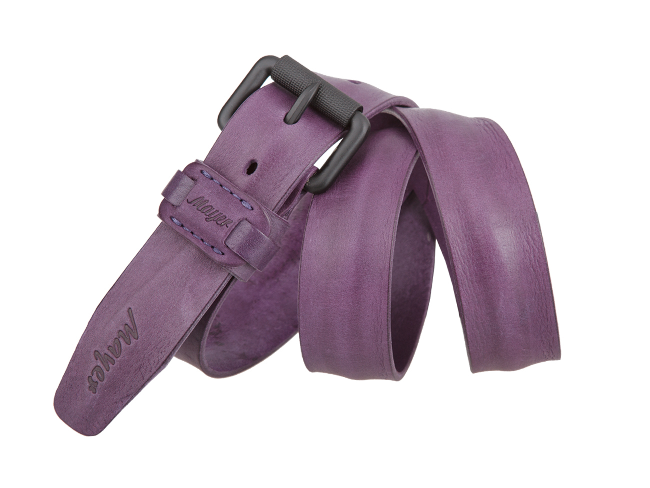 Женский джинсовый фиолетовый ремень из кожи Mayer B 40-435