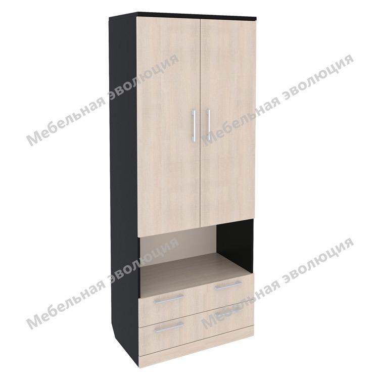 Шкаф со штангой, полками, нишей и выдвижными ящиками, Эволюция