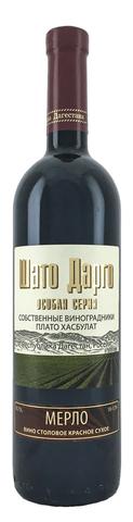 Вино Мерло Шато Дарго столовое крас. сухое 0,75л