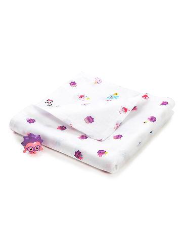 Двухслойное муслиновое одеяло Adam Stork Малышарики