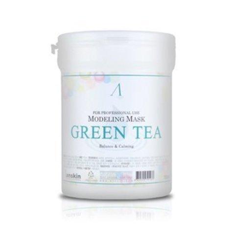 Маска альгинатная с экстрактом зеленого чая успокаивающая ANSKIN Green Tea Modeling Mask 240 гр банка