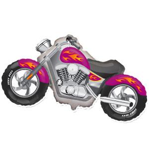 Фольгированный шар Мотоцикл малиновый 57см X 115см