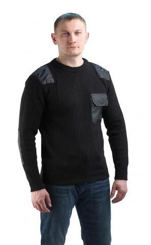 Джемпер форменный черный с накладками