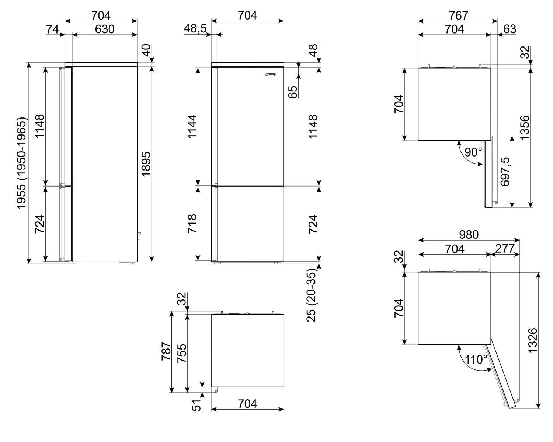 Холодильник Smeg FA3905RX
