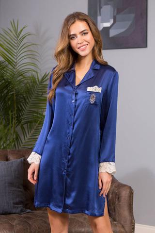 Рубашка Kristy 15114 Dark Blue Mia-Mia