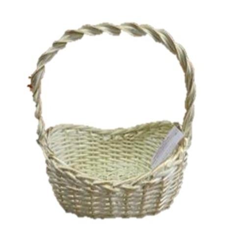 Корзина плетеная (ива), 26x18х8,5хH26см белый/золотой