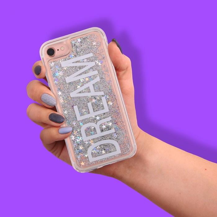Чехол для телефона iPhone 7 с блёстками внутри Dream фото