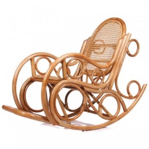 Кресло-качалка NOVO с подушкой (004.001) золотой мед