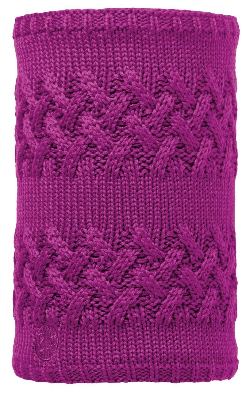 Вязаные шарфы Вязаный шарф-труба с флисовой подкладкой Buff Savva Mardi Grape 113349.617.10.00.jpg