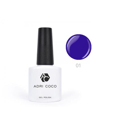 Гель-лак ADRICOCO Pretty dolly №01 сине-фиолетовый (8 мл.)