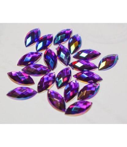 198 Стразы вытянутые фиолетовые 20 шт