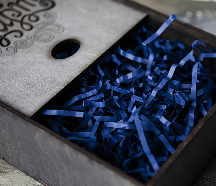 BOX223-1 Подарочная коробка «8 МАРТА» цвета «Эбен» (17*17*7 см) фото 05