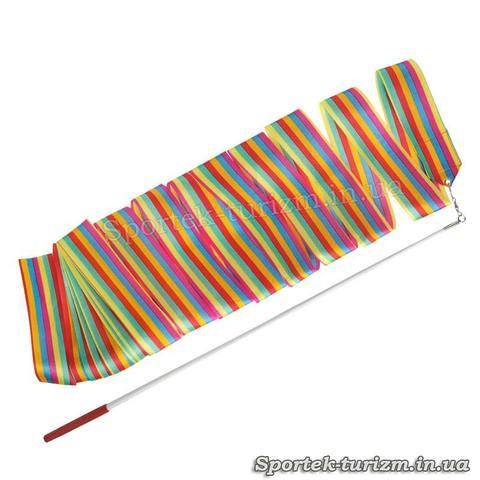 Разноцветная лента для художественной гимнастики (3 м, палочка 60 см)