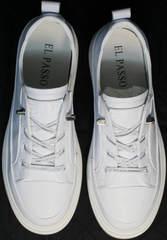 Полу кроссовки полу туфли комфорт женские El Passo sy9002-2 Sport White.