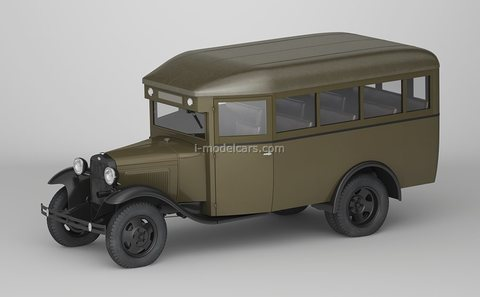 GAZ-03-30 bus 1933 khaki 1:43 DeAgostini Auto Legends USSR #273