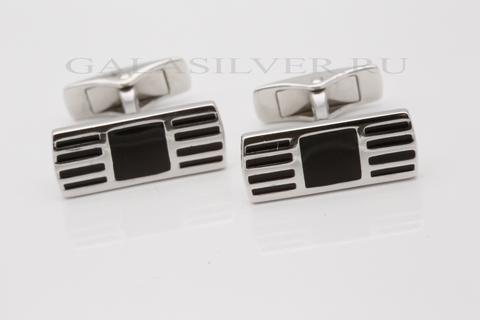 Запонки с эмалью из серебра 925