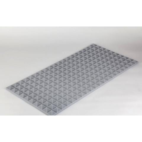 негорючая  акустическая панель  Пирамида ECHOTON FIREPROOF 100x50x3cm  из материала  BASOTECT серый