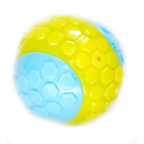 NEMS игрушка мяч резиновый двухцветный с пишалкой и погремушкой 6,5 см