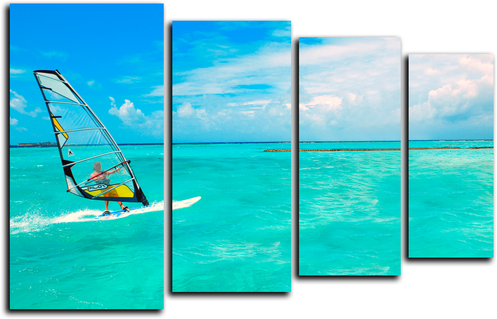 """Природа Модульная картина """"Морской серфинг"""" М243.png"""