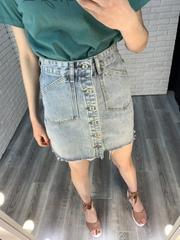 юбка джинсовая с пуговицами впереди nady