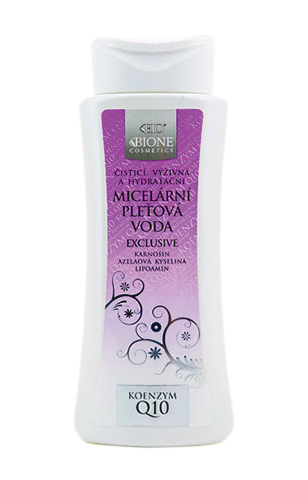 Мицеллярная вода EXCLUSIVE Q10 paraben free / BIO BIONE Micelární voda BIO EXCLUSIVE+Q10, 255 ml
