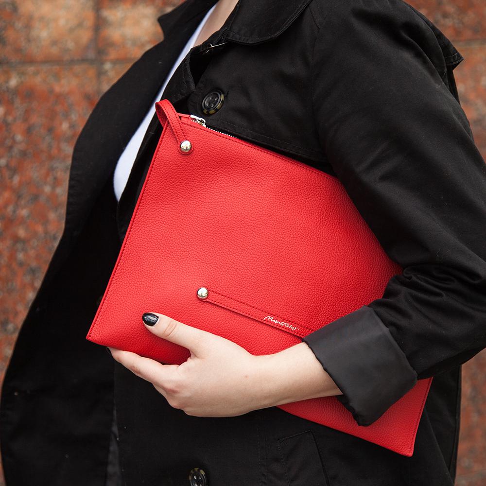 Женская сумка Tereze Easy из натуральной кожи теленка, красного цвета