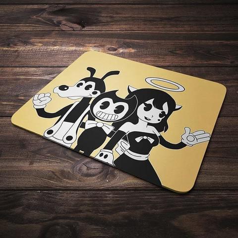 Коврик для мыши с Бенди, Алисой и Борисом №3