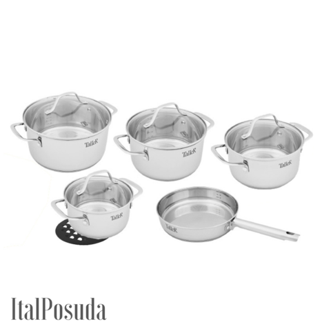 Набор посуды из нержавеющей стали  Taller TR-1080 (Элиас)